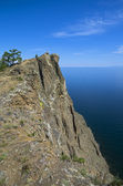 Coastal cliffs. Lake Baikal, Russia. — Stock Photo