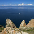 Coastal cliffs of the island Olkhon. Lake Baikal, Russia. — Stock Photo