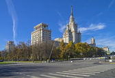The main building of Moscow State University. — Stock Photo