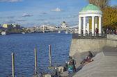 Moskva River embankment. — Stock Photo
