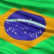 Realistic 3d seamless looping Brazil flag waving in the wind. — Stock Video