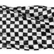 Realistic 3d seamless looping checkered flag waving in the wind. — Stock Video