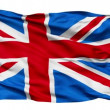 Realistic 3d seamless looping Great Britain(English) flag waving in the wind. — Stock Video