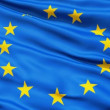 Realistic 3d seamless looping Europe flag waving in the wind. — Stock Video
