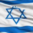 Royalty-Free Stock Vector Image: Realistic 3d seamless looping Israel flag waving in the wind.