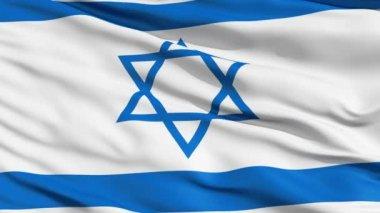 Réaliste 3d sans soudure en boucle israël drapeau ondulant dans le vent. — Vidéo