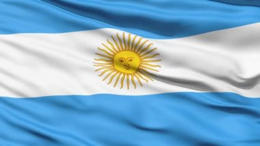 Flag Of Argentina Close Up Background — Stock Video #12530295