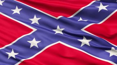 Confederate Battle Flag Close Up — Stock Video #12531454