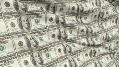 Crumpled Sheet Uncut American Dollar Banknotes — Stock Video