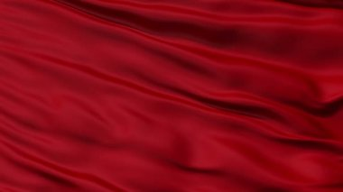 Plush Red Romantic Fabric Background,seamless looping — Stockvideo