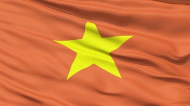 Yellow Star On Vietnam Flag — Stock Video