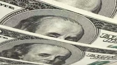 Macro Portrait American Dollar Notes — Stock Video