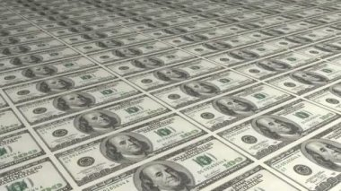 Diagonal American Dollar Bills Greenbacks — Stock Video