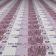 Stock Video: Uncut Euro Banknotes