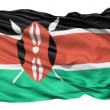 Stock Video: Flying Flag Of Kenya