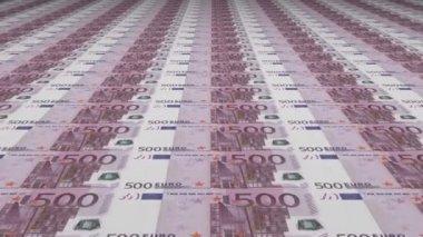 Uncut Euro Banknotes — Stock Video