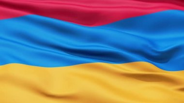 Waving Flag Of Armenia — Stock Video