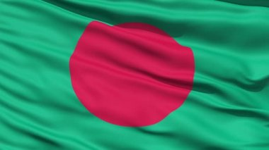 Waving Flag Of Bangladesh — Stock Video