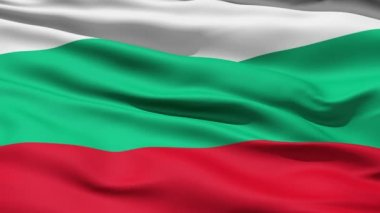 Waving Flag Of Bulgaria — Stock Video