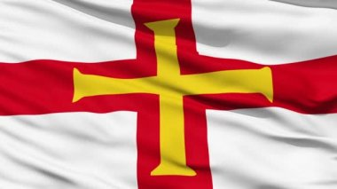 Flag Of The Bailiwick Of Guernsey — Stock Video