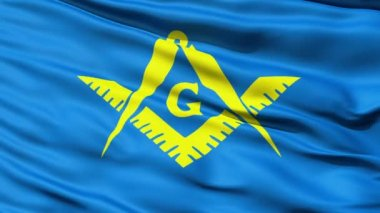 The Masonic Flag Of Freemasonry — Stock Video