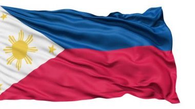 Flying Flag Of The Philippines — Stock Video