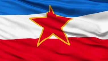 Flag of Socialist Federal Republic of Yugoslavia — Stock Video