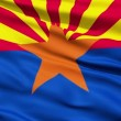Stock Video: Waving Flag Of US State of Arizona