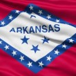 Stock Video: Waving Flag Of US State Of Arkansas