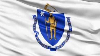 Flag Of The Commonwealth of Massachusetts — Stock Video