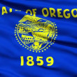 Stock Video: Waving Flag Of State Of Oregon