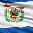 Royalty-Free Stock Imagen vectorial: Waving Flag State Of West Virginia