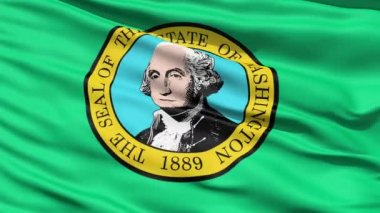 Waving Flag Of StateWaving Flag Of State Of Washington, America, with the official seal depicting George Washington in the centre. Of Washington