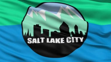 American State City Flag of Salt Lake City — Stock Video