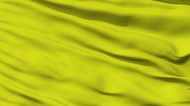 Waving green blank flag closeup — Stock Video