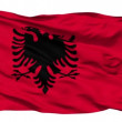 Waving national flag of Albania — Vídeo Stock