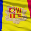 Waving national flag of Andorra — Stock Video #12594554