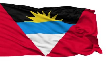 Waving national flag of Antigua and Barbuda — Stock Video