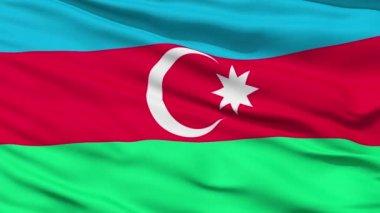 Waving national flag of Azerbaijan — Stock Video
