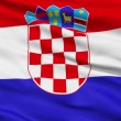 Waving national flag of Croatia - Stock Photo