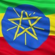 Waving national flag of Ethiopia — Stock Video
