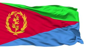 Waving national flag of Eritrea — Stock Video