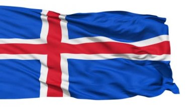 Waving national flag of Iceland — Stock Video