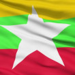 Waving national flag of Myanmar — Stock Video