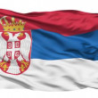 Waving national flag of Serbia — Stock Video