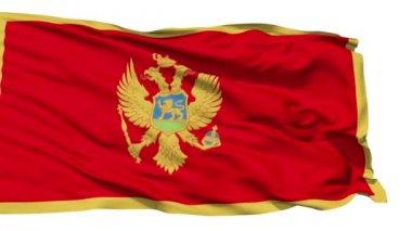 Waving national flag of Montenegro — Stock Video