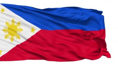 Waving national flag of Philippines — Stock Video