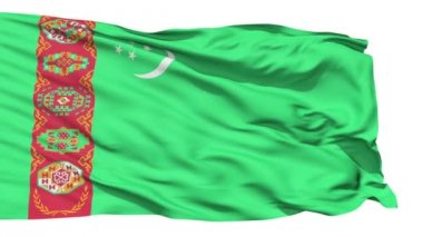 Waving national flag of Turkmenistan — Stock Video