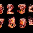 Set of hell burning numbers — Stock Photo #19216693