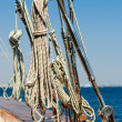 Rigging of an luxury yacht — Stock Photo